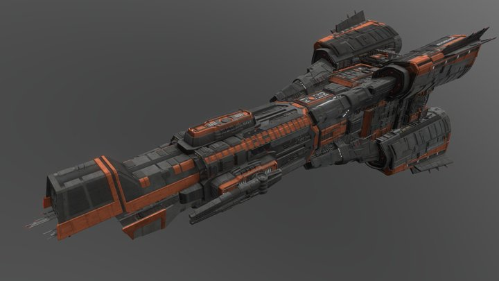 MCRN Donnager (The Expanse) 3D Model