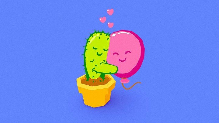 Cactus Love (Hurts!) 3D Model