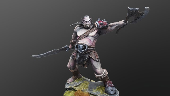 Shargh Orc Fury 3D Model