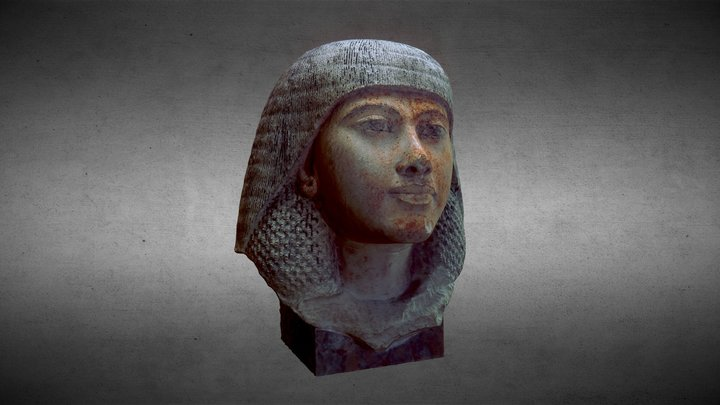 Egyptian bust of a woman 3D Model