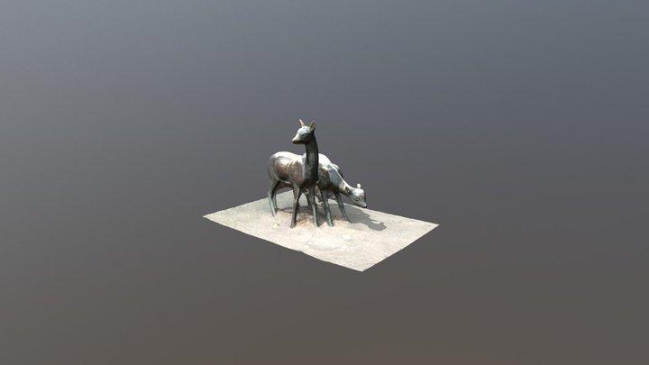 Unnamed statue of deer 3D Model
