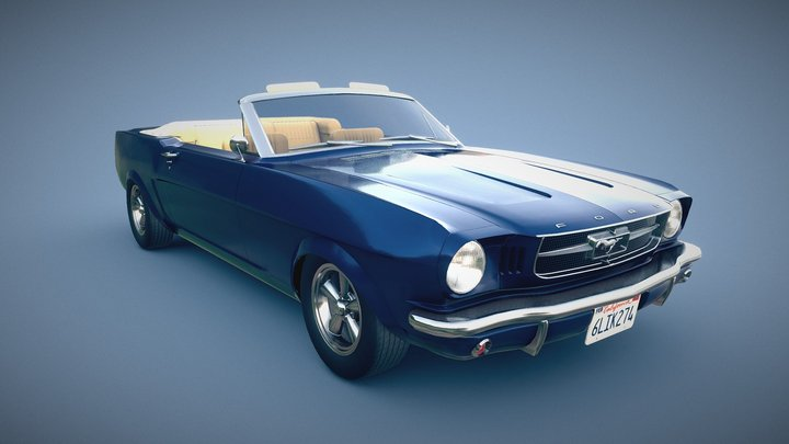 1965 Ford Mustang Convertible 3D Model