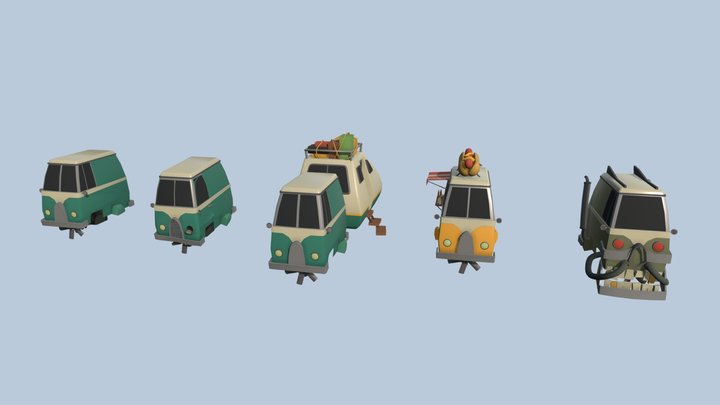 XYZ School Homework 5 - 5 Drafts of an object 3D Model