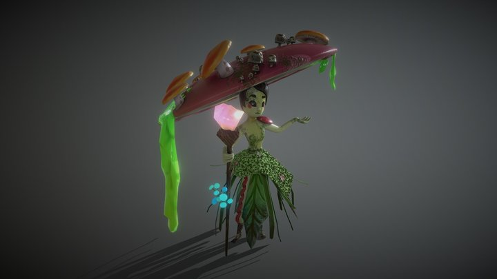 Mushroom Miss 3D Model