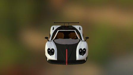 Pagani Zonda Cinque 3D Model