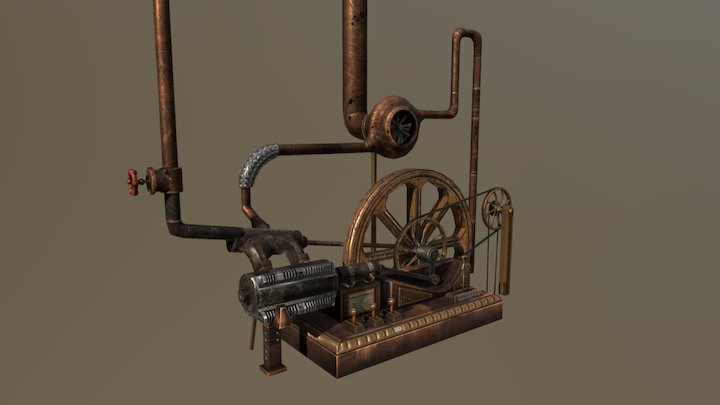 Steam Engine 3D Model