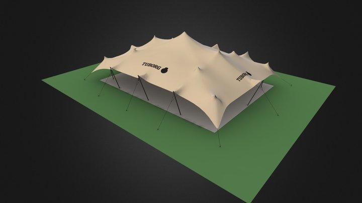 Tuborg Branded Tent 3D Model