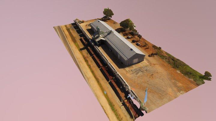 Grain Depot - Drone Scan 3D Model