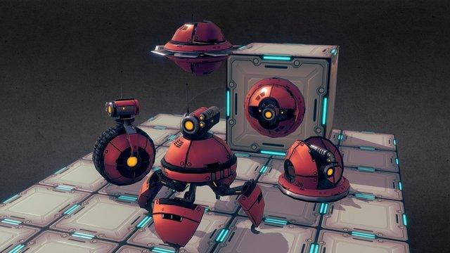Bad Bots 3D Model