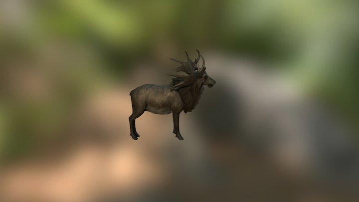 Deer All Animations 3D Model