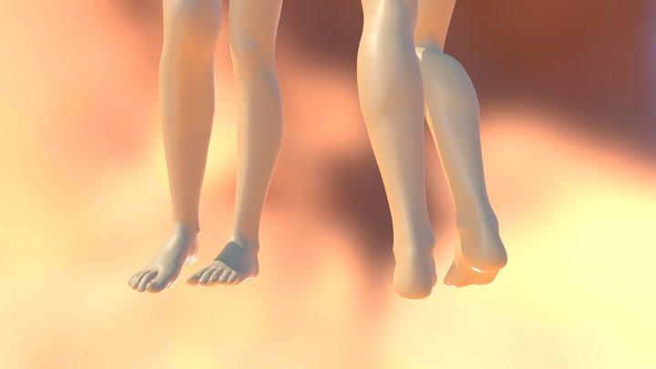 Women woman girl leg 3d model 3D Model