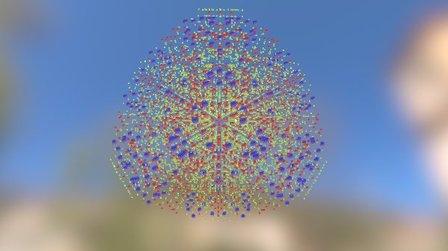 Ants3D in Cube T=73 3D Model