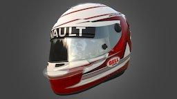 Kevin Magnussen Helmet 3D Model