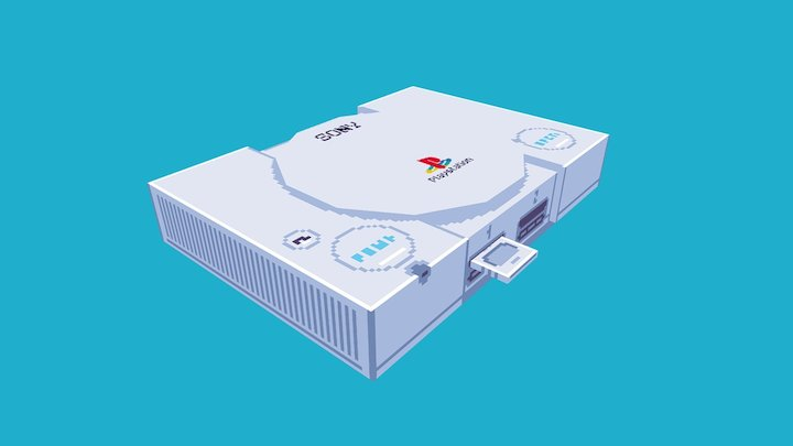PlayStation 1 3D Model