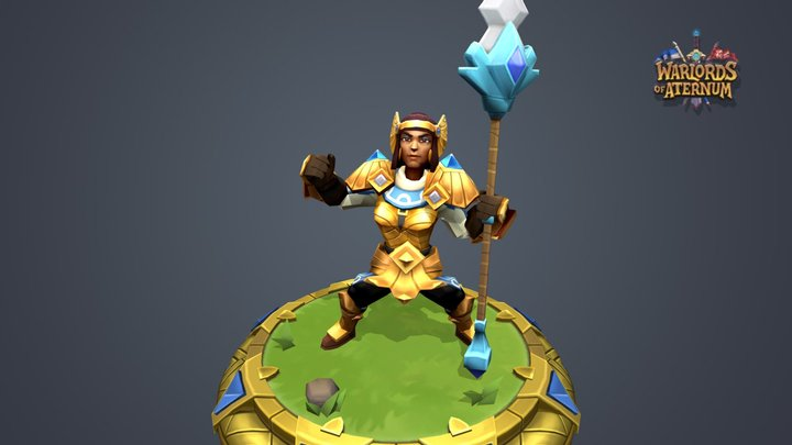Pikes of Xataka Mythical Armor 3D Model
