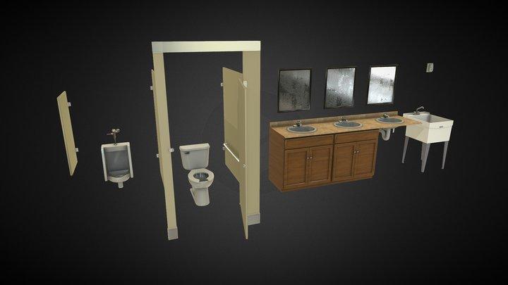 Restroom SHOW 3D Model