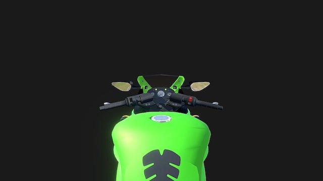 Kawasaki Ninja 250R 3D Model
