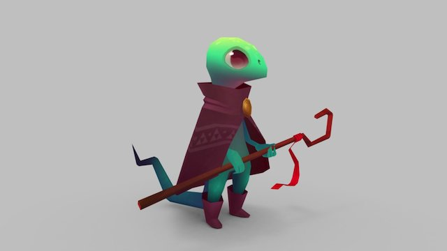 RPG Reptile Mage 3D Model