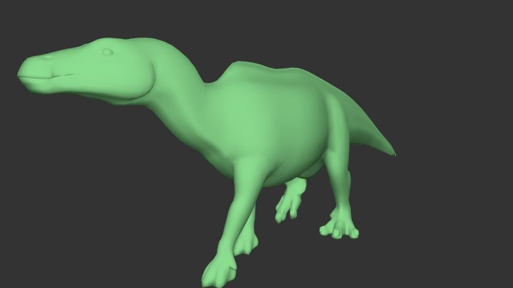 Hadrosaur base model 3D Model