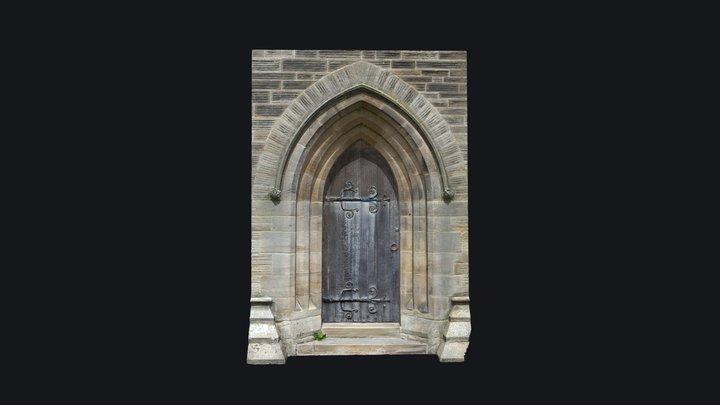 Scanned Church Door 3D Model