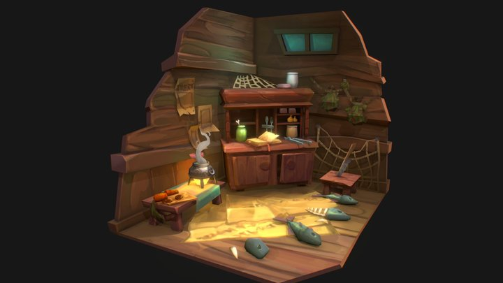 Fisherman apartment 3D Model
