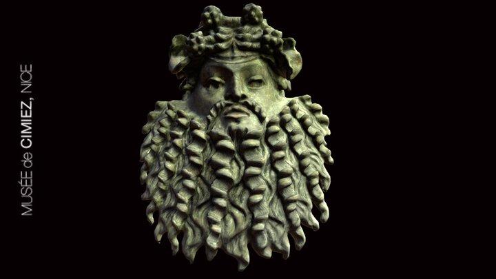 Masque de Silène, Musée de Cimiez, Nice 3D Model