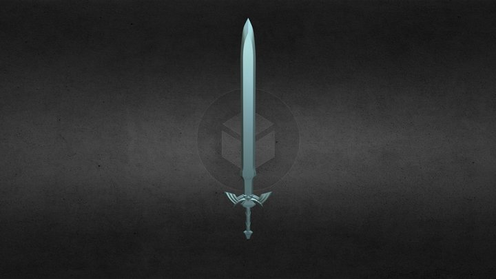 Legend of Zelda Sword 3D Model