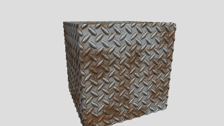 Rusty metal floor texture 3D Model