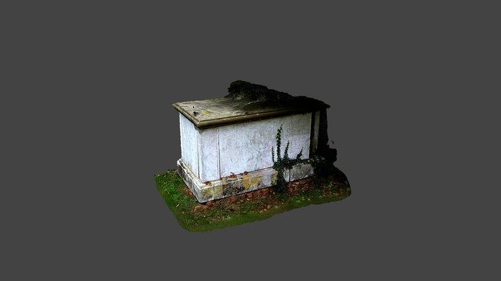 St Mary's Church, Shaw-Cum-Donnington-Box Tomb 4 3D Model