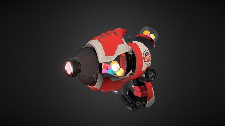 Bubble Gum Gun 3D Model