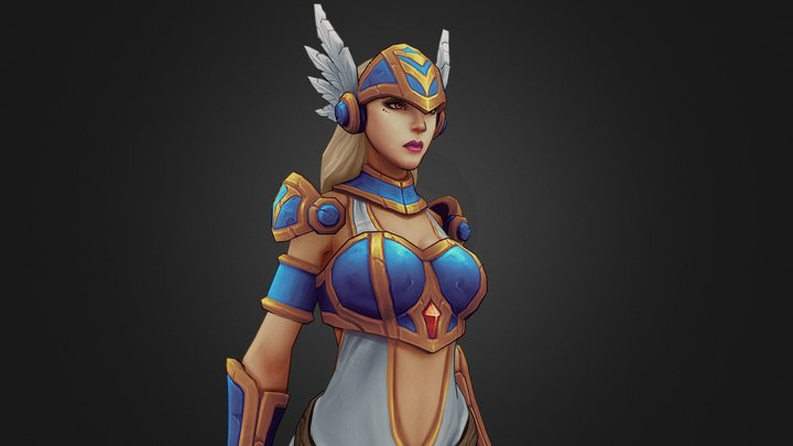 Rage Squad: Ana The Valkyrie 3D Model