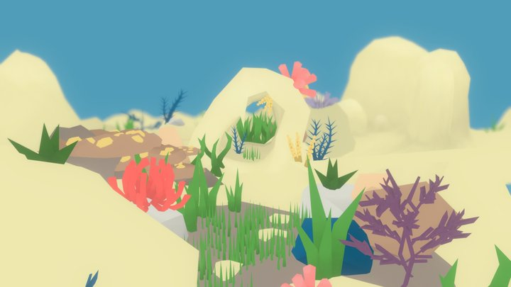 Underwater Environment 3D Model