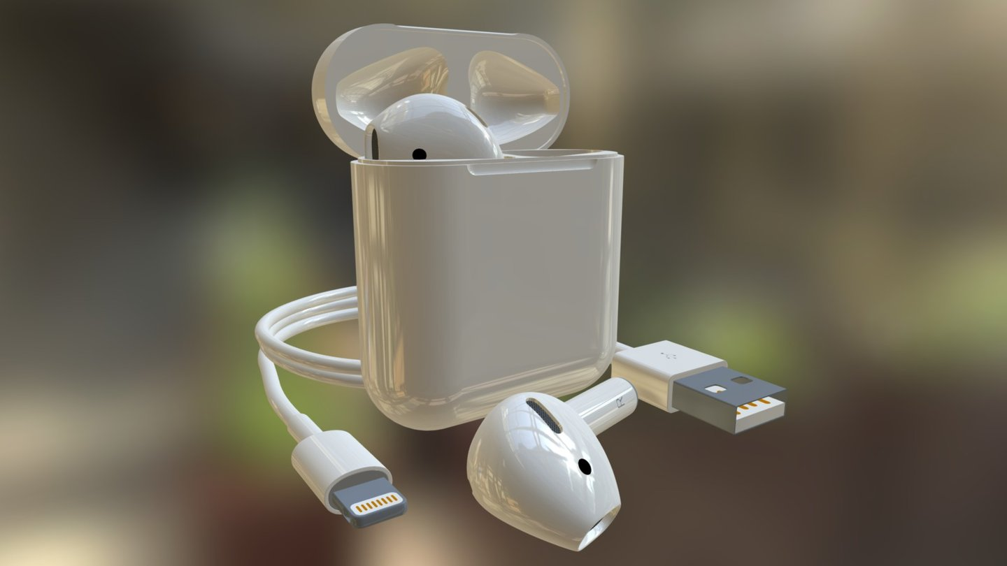 Apple Airpods 3d Model 3d Model By Vladimir Obshansky