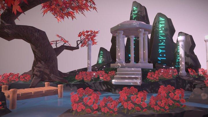 Aqueduct Diorama 3D Model
