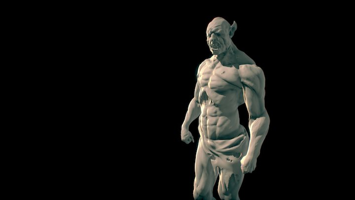 Fast Zbrush Orc Sculpting 3D Model