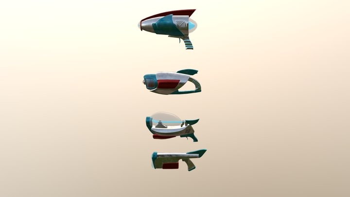 Stylized Weapons Pack #1 style 2 3D Model