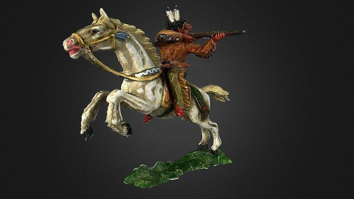 Elastolin indian horseman (with sound) 3D Model