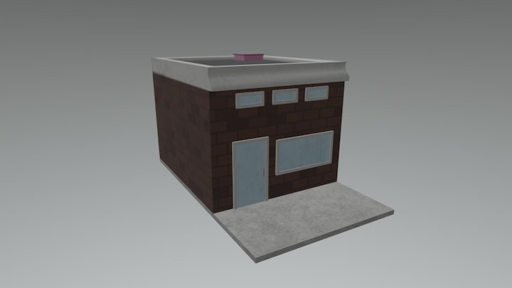 Pastry Panzer Panic! - Strip Mall 1 3D Model