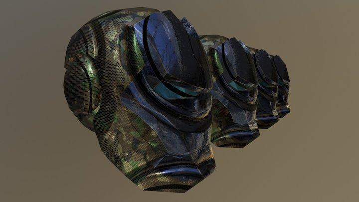 HeadGear :LOD Test 3D Model