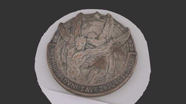 Aeronautical Association medallion of Yugoslavia 3D Model