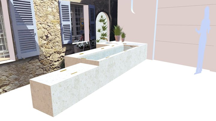 'Source' and 'Lavoir provençal' developpment 3D Model