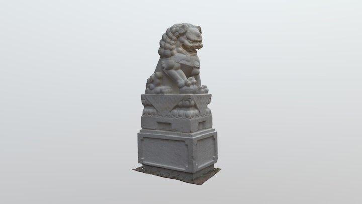Dr. Sun Yat-Sen Chinese Garden Lion 3D Model