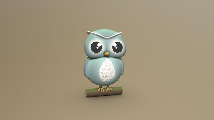 3December - Day 20 - Snow Owl 3D Model