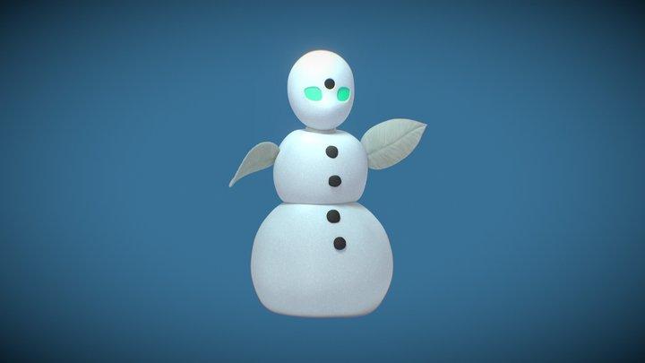 OriHime Snowman 3D Model