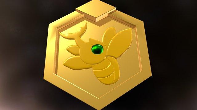 Metabee Kabuto Medal from Medabots 3D Model