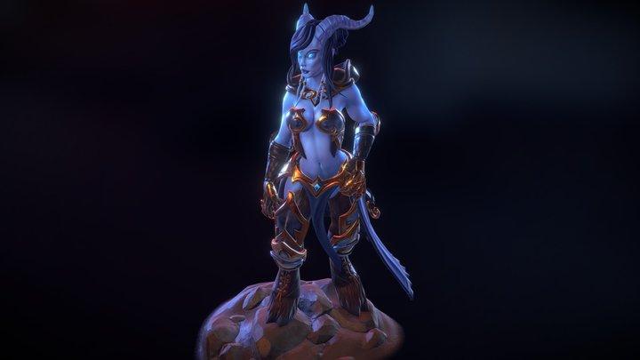Warcraft Draenei Fanart 3D Model