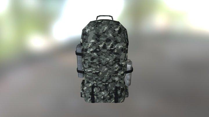 Backpack-2_winter camuflage 3D Model