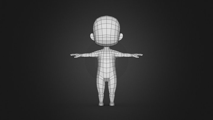 Character - Boy Base Mesh Low-poly 3D model 3D Model