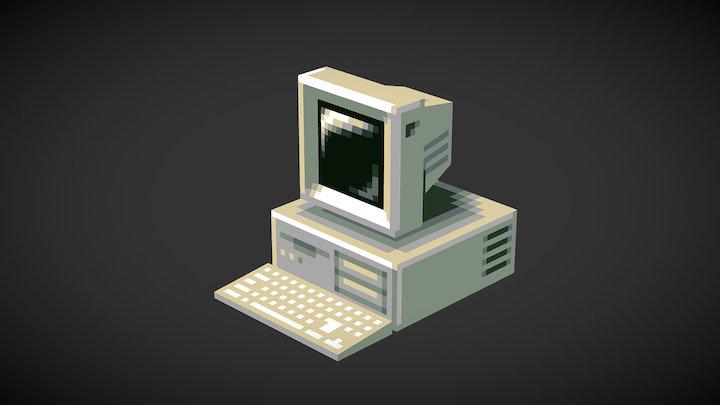 Low-Fi Retro Computer 3D Model