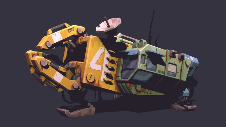 Garbage collector 3D Model